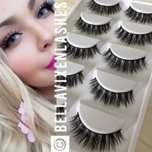 Other - 5 Pairs Faux Mink Lashes